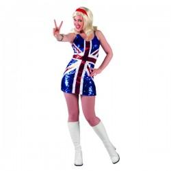 Vestido de bandera UK brillante para mujer - Imagen 1