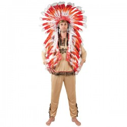 Penacho de indio Mohawk para adulto - Imagen 2