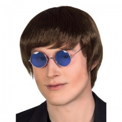 Gafas de hippie azules para adulto - Imagen 2