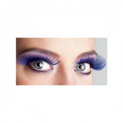 Pestañas azules largas para mujer - Imagen 2
