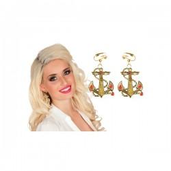 Pendientes de ancla marinera para mujer - Imagen 2