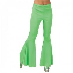 Pantalones de campana verdes para mujer - Imagen 1