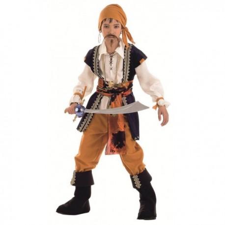 Disfraz de pirata malvado niño - Imagen 1