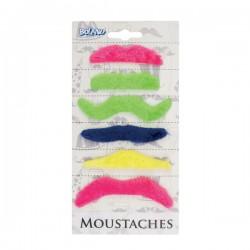 Set de 6 bigotes adhesivos para adulto - Imagen 2
