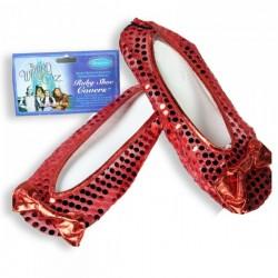 Cubrezapatos con lentejuelas rojas El Mago de Oz adulto - Imagen 1
