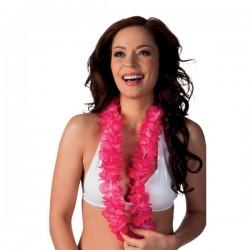 Collar hawaiano rosa para adulto - Imagen 2