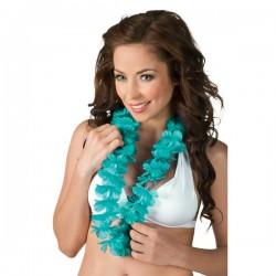 Collar hawaiano turquesa para adulto - Imagen 2