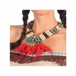 Collar de indio con plumas para adulto - Imagen 2
