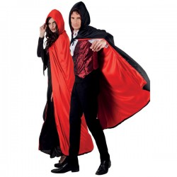 Capa de Conde drácula reversible con capucha para adutlo - Imagen 2