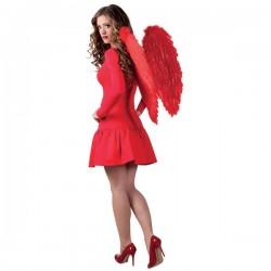 Alas de plumas rojas para adulto - Imagen 2