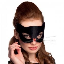 Antifaz de gatito negro para mujer - Imagen 2