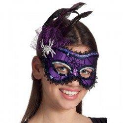 Antifaz de señorita araña para adulto - Imagen 2