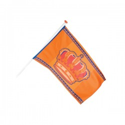 Bandera naranja con corona - Imagen 2
