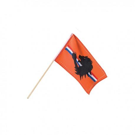 Bandera naranja con franja tricolor - Imagen 2