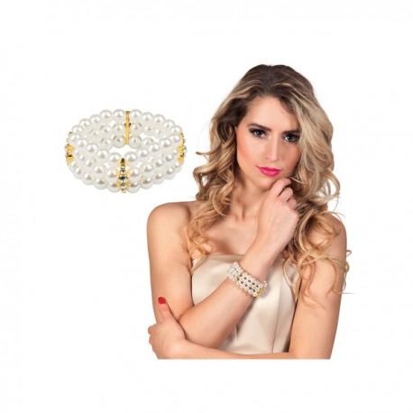 Pulsera de perlas blancas para mujer - Imagen 2