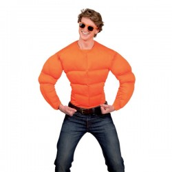 Pecho musculoso naranja para hombre - Imagen 2