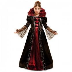 Disfraz de vampiresa elegante para niña - Imagen 1