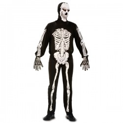 Disfraz de esqueleto monstruoso para hombre - Imagen 1