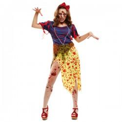 Disfraz de princesa de las nieves zombie para mujer - Imagen 1