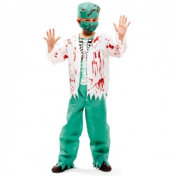 Disfraz de cirujano esqueleto para niño - Imagen 1