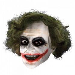 Máscara 3/4 de vinilo Joker con peluca para niño - Imagen 1