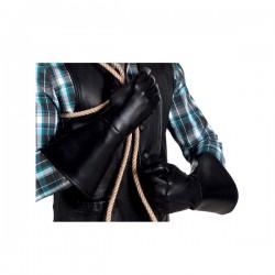 Guantes de vaquero negros para adulto - Imagen 2