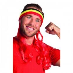 Cinta deportista con pelo tricolor Bélgica - Imagen 1