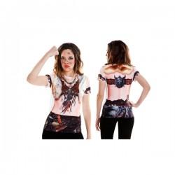 Camiseta de vikinga nórdica para mujer - Imagen 1