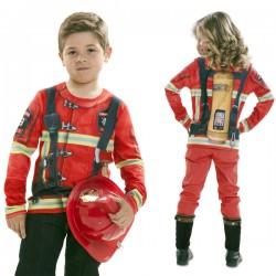 Camiseta de bombero atrapafuego infantil - Imagen 1