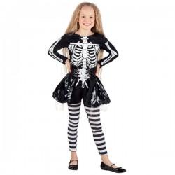 Disfraz de esqueleto con falda para niña - Imagen 1