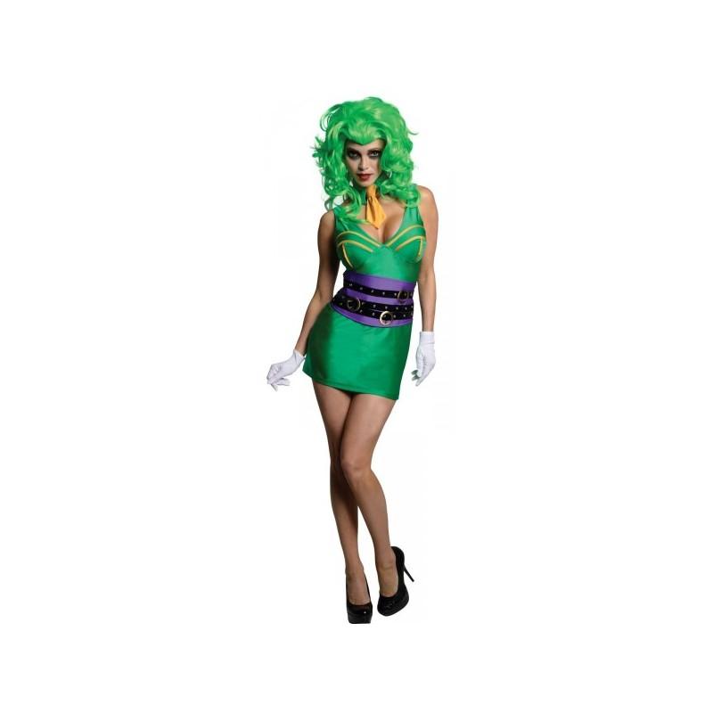 Disfraz de mujer joker batman comprar online - Disfraz joker casero ...