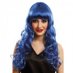 Peluca azul Katy pata mujer - Imagen 2