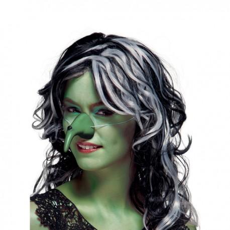 Nariz de bruja verde con verruga para mujer - Imagen 2