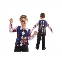 Camiseta de zombie escolar para niño - Imagen 1