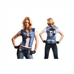 Camiseta de motorista ruda para mujer - Imagen 1
