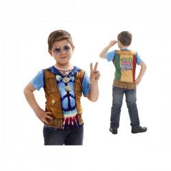 Camiseta de hippie flower power para niño - Imagen 1