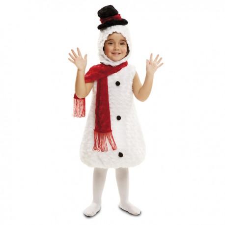 Disfraz de muñeco de nieve de peluche para bebé - Imagen 1