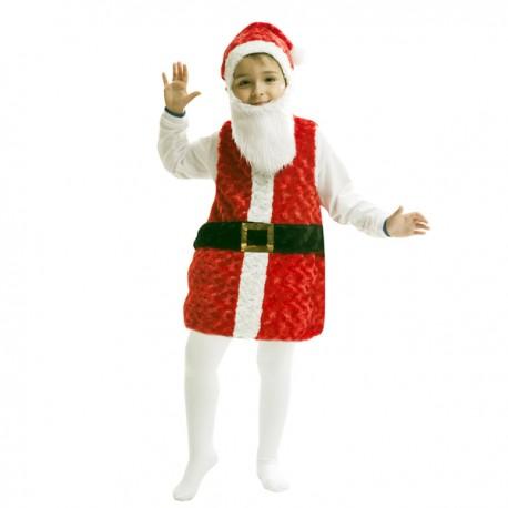 Disfraz de Papa Noel de peluche infantil - Imagen 1