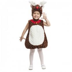 Disfraz de reno de peluche infantil - Imagen 1