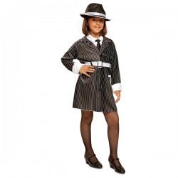 Disfraz de gángster elegante para niña - Imagen 1