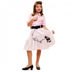 Disfraz de joven a la moda años 50 para niña - Imagen 1