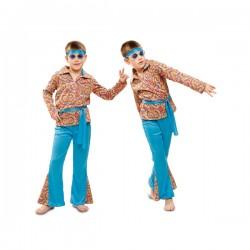 Disfraz de hippie psicodélico para niño - Imagen 1