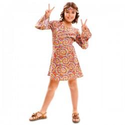Disfraz de hippie psicodélica para niña - Imagen 1