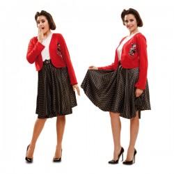 Disfraz de joven a la moda de los años 50 para mujer - Imagen 1