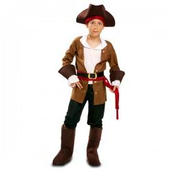 Disfraz de pirata aventurero para niño - Imagen 1