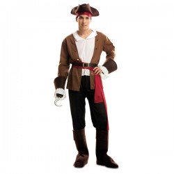 Disfraz de pirata bucanero aventurero para hombre - Imagen 1