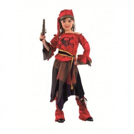 Disfraz de pirata corsaria niña - Imagen 1