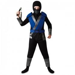 Disfraz de ninja kombat azul para niño - Imagen 1