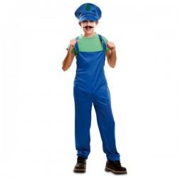 Disfraz de fontanero compañero de aventuras para niño - Imagen 1