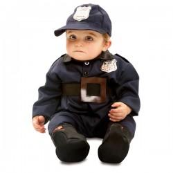 Disfraz de policía valiente para bebé - Imagen 1